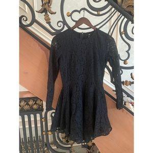 H&M black lace long sleeve dress size 4